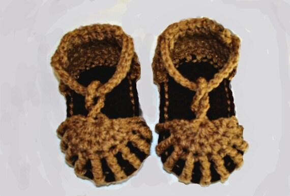 Crochet Boy Sandals - Handmade Baby Summer Booties