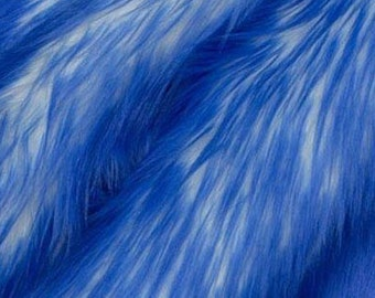 Candy Shag Fur Blue 58 Inches Fabric by the Yard, 1 yard