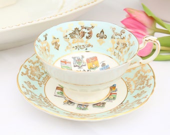 Vintage, English Fine Bone China Tea Cup & Saucer by Paragon By Appointment to H.M. The Queen, China Potters, Collectible - 1957