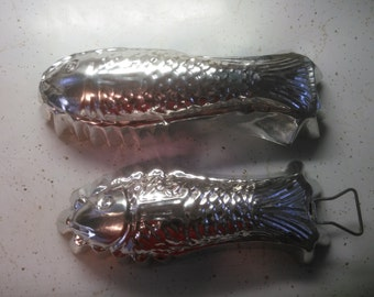 Vintage Metal Fish Molds - Two Metal Fish Molds
