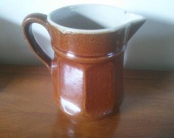 Vintage Brown Stoneware Pitcher - Pitcher - Stoneware Pitcher - Brown Pitcher - Pottery Pitcher - Farmhouse Kitchen