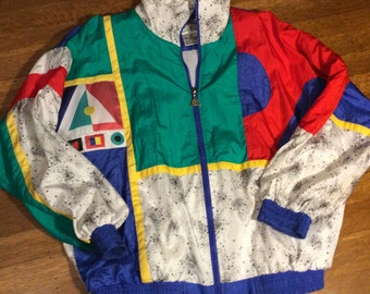 SALE / Awesome Eighties Windbreaker / Eighties Jacket / Eighties Coat / 1980's Fashion