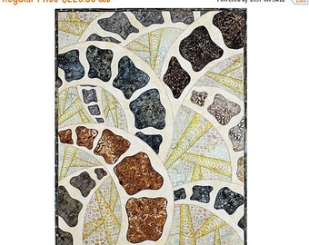 Close out Sale Abstract Quilted Wall Hanging, Fiber Art Quilt