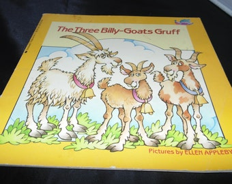 Vintage The Three Billy Goats Gruff Norwegian Folktale Illustrated softcover 1984 Scholastic