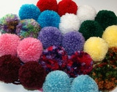 POMPOMS - (5) MADE to ORDER - Your Choice of Color - Yarn Accessory - Beanie Embellishment - Crochet Accent - Knitting -Team Spirit