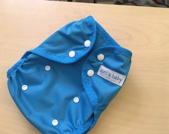 One Size PUL waterproof cloth diaper cover - Aqua
