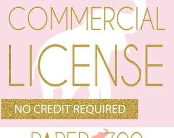 COMMERCIAL LICENSE for Paper Zoo Clip Art