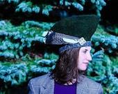 Green Icelandic Wool Tam, beret, Ren Faire Hat
