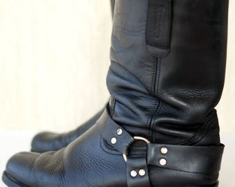 Vintage Genuine Leather Boots Size 44-45 EU, 11 UK