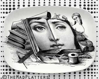 Open Book Cavalieri melamine platter