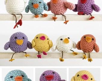 Crochet Pattern DMC Family Chicks Birds Amigurumi