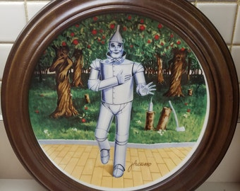 Vintage Wood Framed Knowles Wizard of Oz The Tin Man