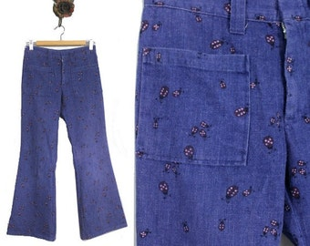 vintage 70s bellbottom jeans | Low waisted 1970s jeans Ladybirds