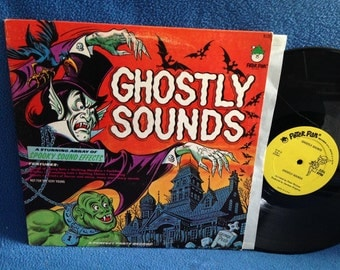 "RARE, Vintage, ""Ghostly Sounds"" George Peed, Haunted House Music, Vinyl LP, Record Album, Halloween, Horror, Spooky Sound Effects, Macabre"