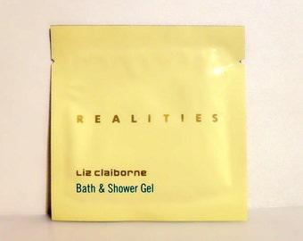 Vintage 1980s Realities by Liz Claiborne Perfumed Bath and Shower Gel Sample Packet