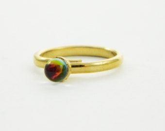 Color Prism Ring - Sunset Ring - Midi Ring