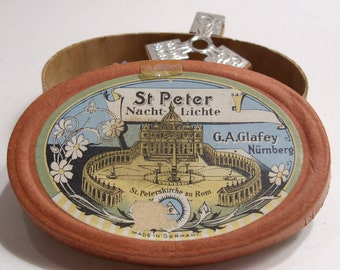 St. Peter Nacht Lichte Miniature Candle Set G.A. Glafey Nurnberg Made in Germany