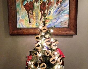 Kentucky Bourbon Barrel Christmas Ornament