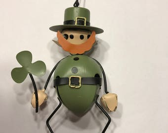 Vintage metal St Patrick Day ornament made of bells (A13/3)