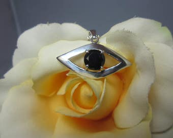 Black Spinel Evil Eye Pendant