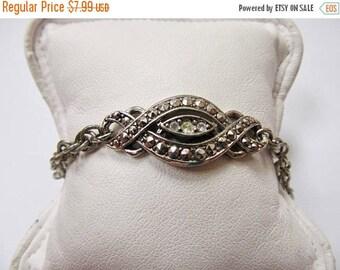 On Sale AVON Vintage Panel Bracelet with Rhinestones Item K # 2400
