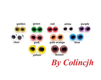 6mm Safety Eyes Plastic Eyes Animal Eyes Bear Eyes With Washers 11 colors can be chosen