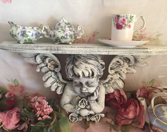 Angel wall shelf - Vintage shelf - Shabby Chic - French Farmhouse - LARGE SHELF