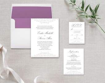 Traditional Wedding Invitation Suite: Classic and Customized for you