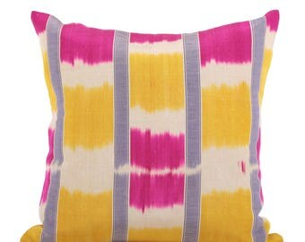19 x 19 Pillow Cover Ikat Pillow Cover Old Ikat Pillow Cover Throw Pillow Decorative Pillow FAST SHIPMENT with ups or fedex - 09136