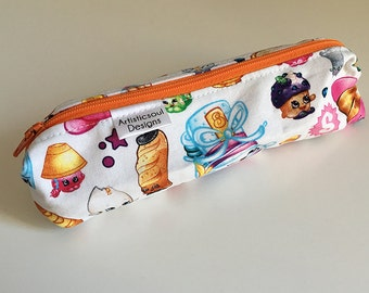 Pencil Case, Pencil Pouch, School Supply – Shopkins -- Toiletry & Cosmetics Bag