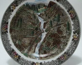 Vintage Colorado Springs, Colorado Souvenir Plate