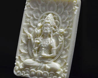 Unusual Pretty Chinese Phoenix mythical beast,faux bone resin carved pendant supply,white cinnabar