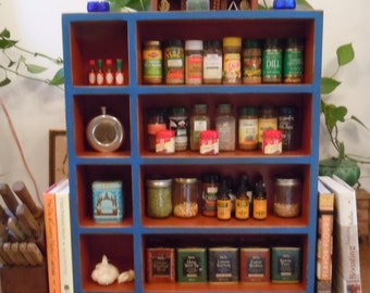 Kitchen Storage Cabinet-Spice Rack-Supplement Shelf-Tea Cabinet-Rustic Wall Cabinet - Handmade Rustic Furniture - MADE to ORDER