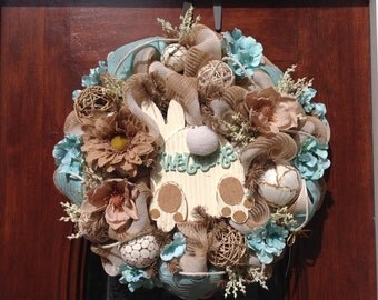 Welcome Bunny But Wreath