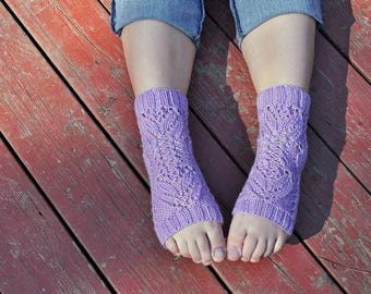 Tulip Lace Yoga Socks knitting pattern instant download