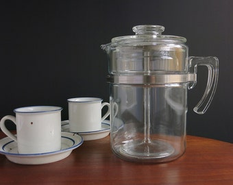 Pyrex Percolator Coffee Pot 9 Cup, Vintage Rangetop Ware Pyrex Percolator, Pyrex Flameware Coffee Pot, Pyrex Coffeemaker, Retro Coffee Maker