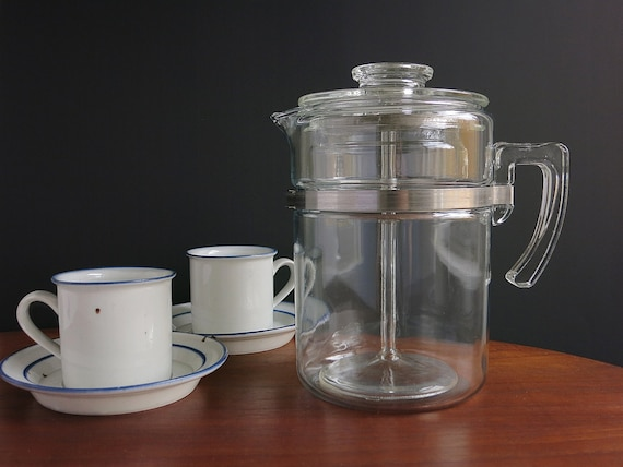 Pyrex Coffee Maker How To Use : Pyrex Percolator Coffee Pot 9 Cup Vintage Rangetop Ware Pyrex