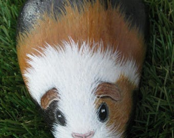 Guinea Pig handpainted rock