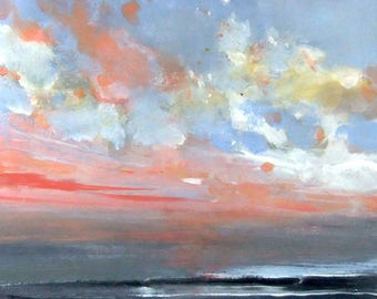 Pacific Morning #4 - Original Acrylic Painting