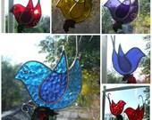Little Birds  Suncatcher in Stained Glass