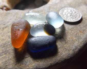 Small pieces of English sea glass for pendants