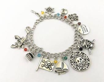 Pirate inspired charm bracelet