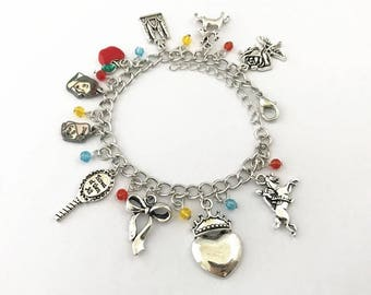 Snow White inspired charm bracelet