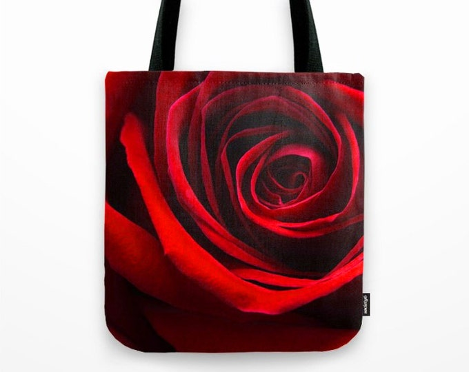 Simply A Red Rose, Photo Tote Bag, Photo Tote, Tote Bag, Flower Tote, Photography, Flower Photography