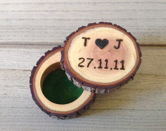 Personalized log Ring box