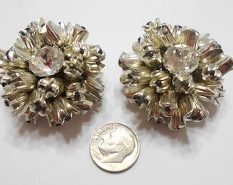 Ultra Large Rhinestone Clip Earrings (3341)