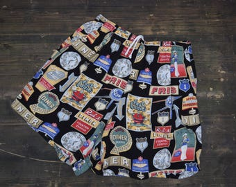 USA Roadsigns Vintage Shorts