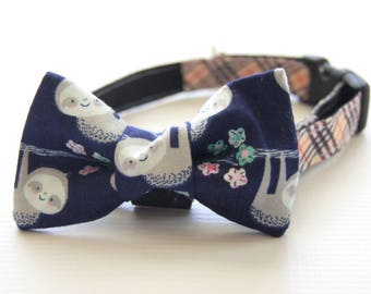 Sloth Bow Tie Dog Collar Attachment