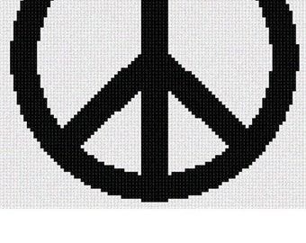 Needlepoint Kit or Canvas: Peace Sign
