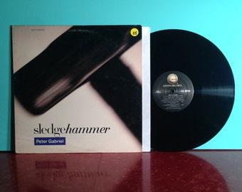 "PETER GABRIEL Sledgehammer 12"" Single Vinyl Record 1986 Genesis Phil Collins New Wave Progressive Rock Very Good + Condition Vintage"